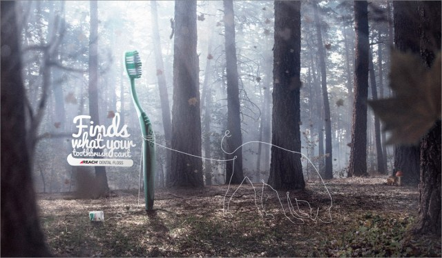 finds what your toothbrush cant ad