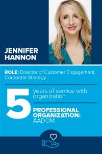 Patterson Profiles Jennifer Hannon's involvement with AADOM