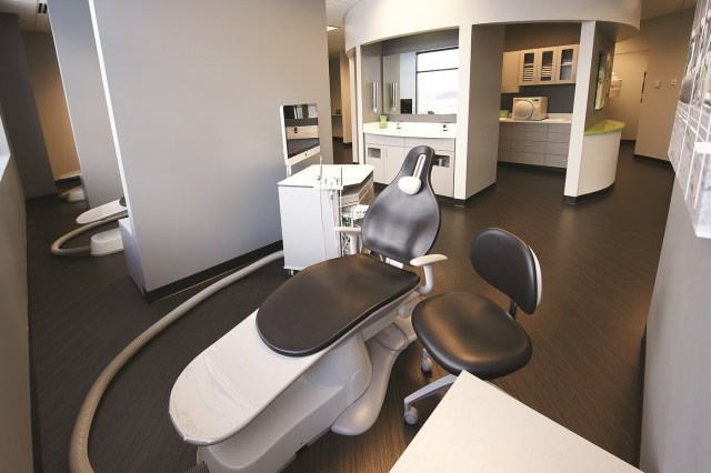 hiding all possible cords and wires makes dental offices more comfortable
