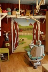farm themed childrens dental operatory
