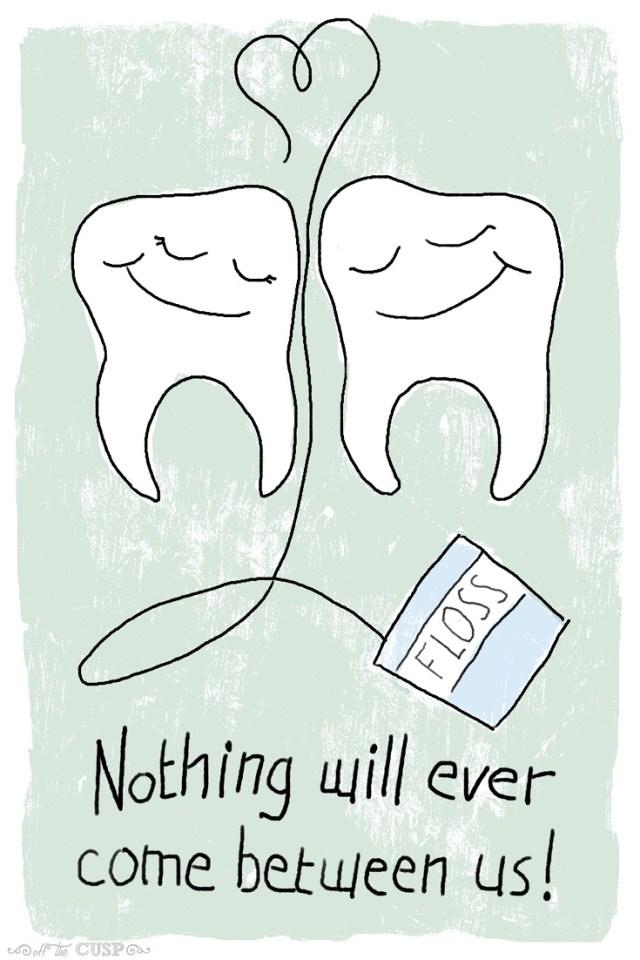 come between us dental pun valentine
