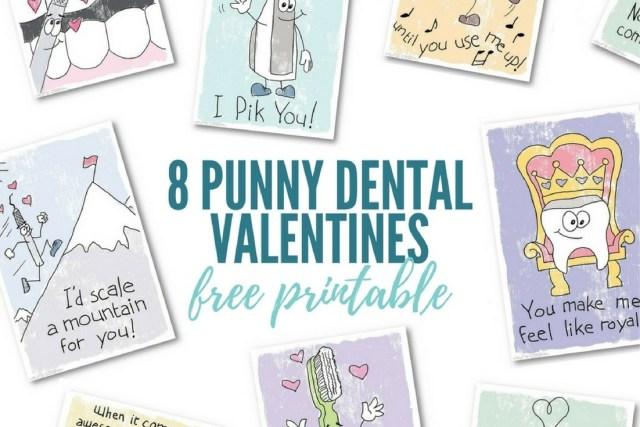 8 punny dental valentines