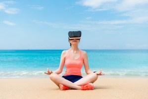 virtual reality beach
