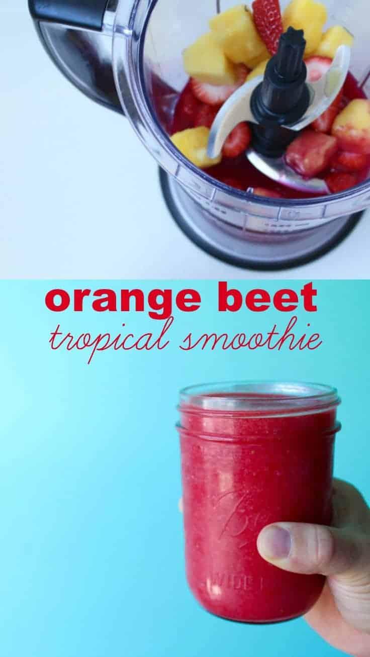 orange beet smoothie