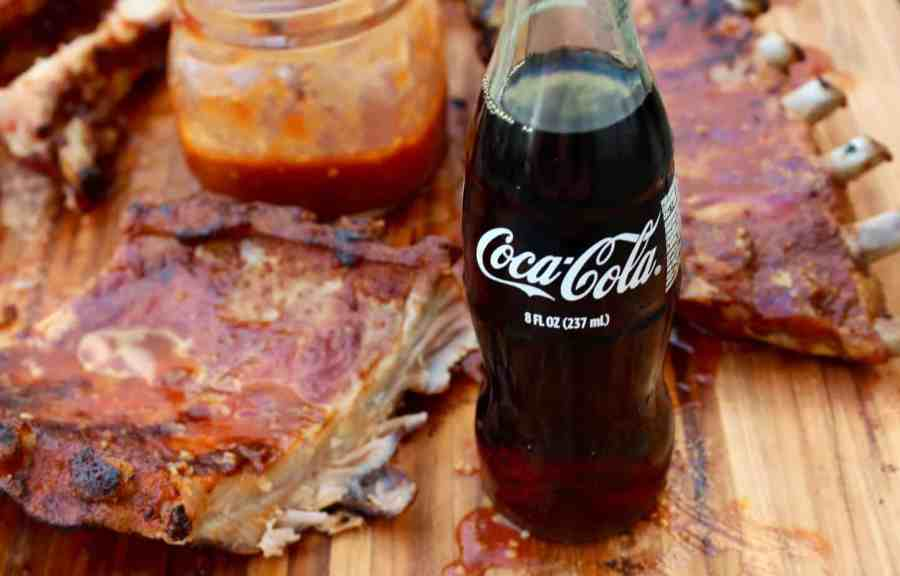 grilled baby back ribs with coca-cola barbecue sauce