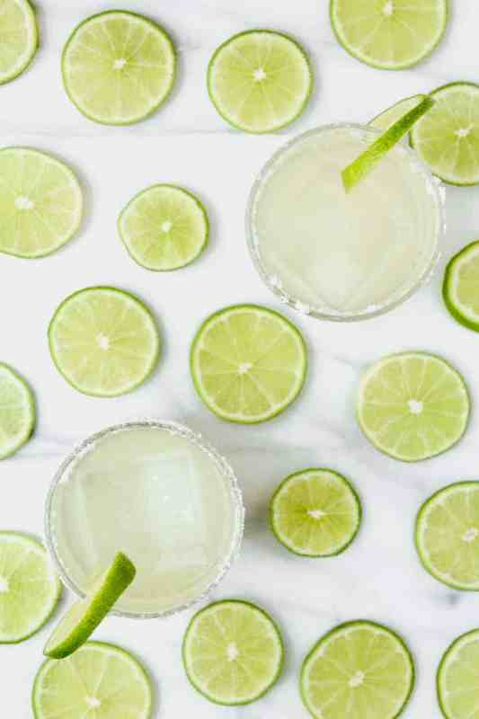 A simple, straightforward classic margarita recipe. Three ingredients (tequlia, orange liquor and fresh squeezed lime juice) are shaken together for one of my favorite cocktails!