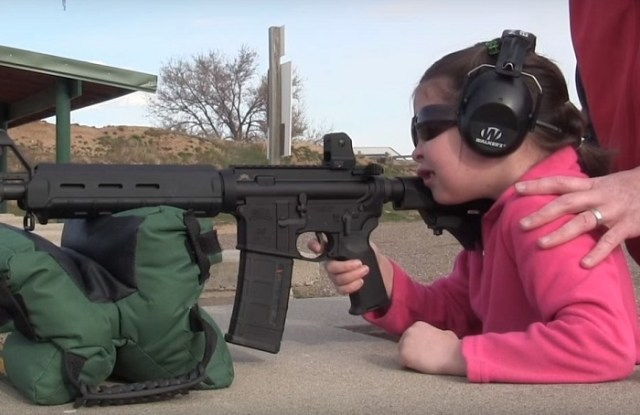 VIDEO: 7-Year-Old Shooting An AR-15 For The 1st Time Blows Away Liberal Media Myths