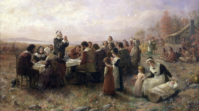 The Pilgrims' 1st Thanksgiving Meal Included … Seal & Eagle?