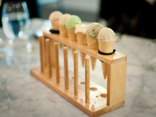Love these little mini ice cream cones displayed in test tube holders
