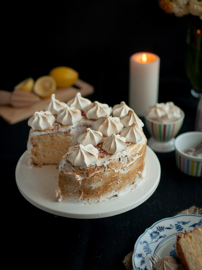 Lemon Meringue Chiffon Cake