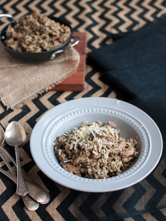 Brown rice and lentil risotto