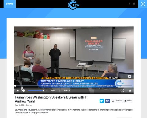 Screenshot of video broadcast by TVW on 8-23-19