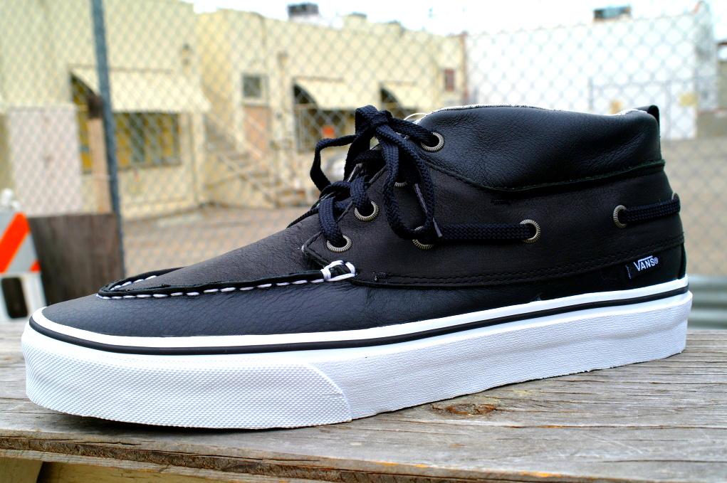 """7615de7d27d1 Vans Chukka Del Barco CA """"Black Leather"""" available now!"""