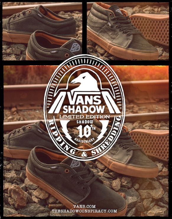 5fc0831d0a The Shadow Conspiracy and Vans Shoes are teaming up once again to bring you  the Shadow x Vans 10th Anniversary Shoes. Made from high quality leather  and wax ...