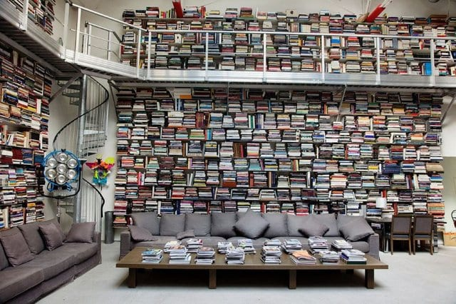 No room for this massive, multi-storied library? Try a small home library instead.