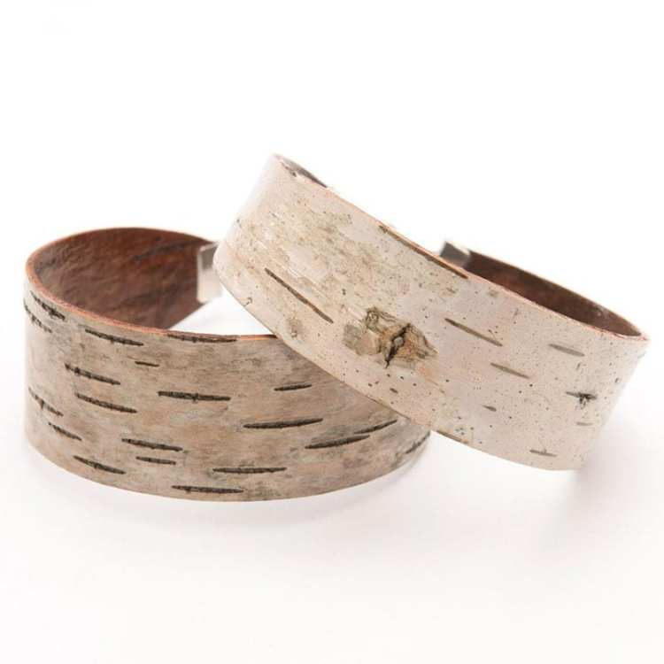 If you love nature and you love jewelry, then there's no question about it - you'll love these nine handmade pieces of nature-inspired jewelry! Like these bark wrist cuffs.
