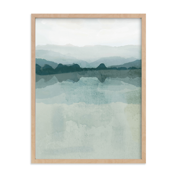 What is sustainable art and where exactly do you find it? Check out Minted, where you'll find pieces like this modern landscape by Karen Kardatzke.