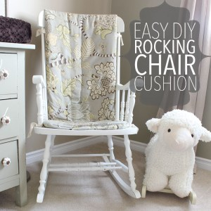 Prefer an old fashioned wood rocker to an oversized glider? Learn how to make an easy DIY rocking chair cushion out of quilt batting.