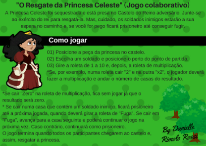 """Jogo """"O Resgate da Princesa Celeste"""" (Arquivo Digital)"""