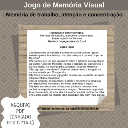 Jogo Memória Visual (Arquivo Digital)