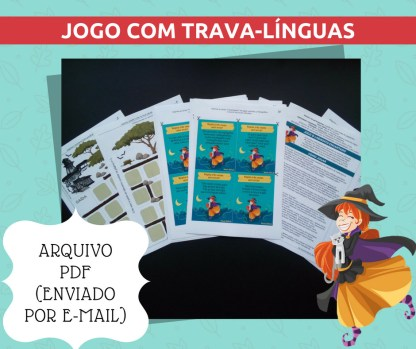 Jogo O Labirinto Encantado contendo atividades com trava-línguas para imprimir.