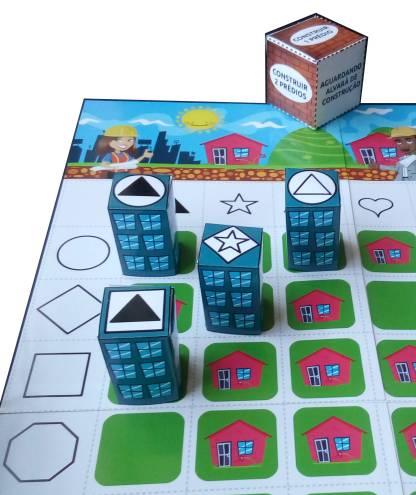 Jogo Pequeno Construtor contendo atividades de raciocínio lógico.
