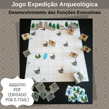 Jogo Expedição Arqueológica com atividades para portadores de TDAH para imprimir.