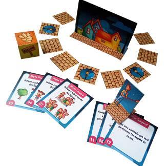 Jogo educativo com atividades de noções temporais
