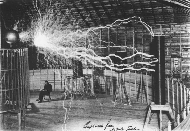 Seu laboratório durante um experimento