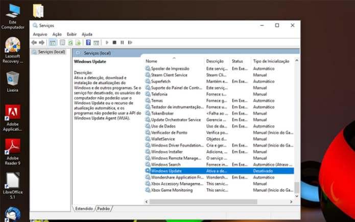 Como desativar as atualizações automáticas do Windows 10