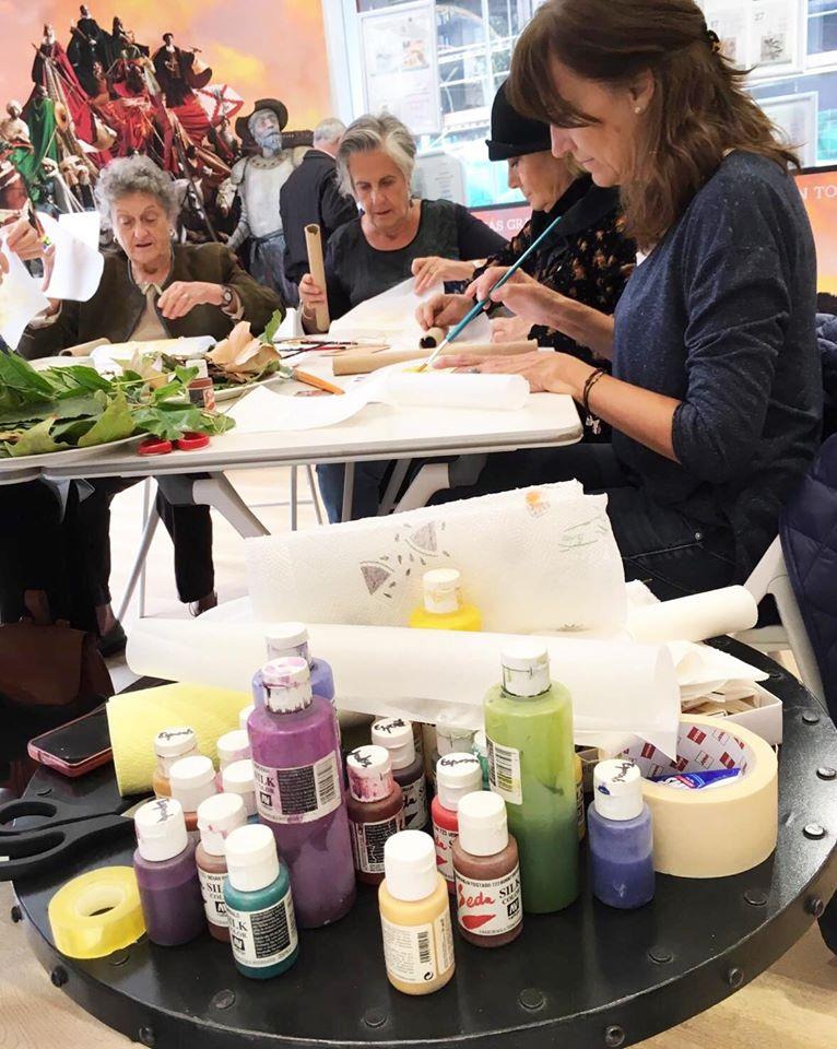 Taller de impresión de hojas en algodón con AMBATIC y María Ángeles Herrrero (Toledo)