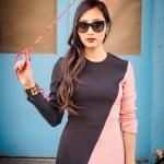 Pink and Black Two Tone Dress