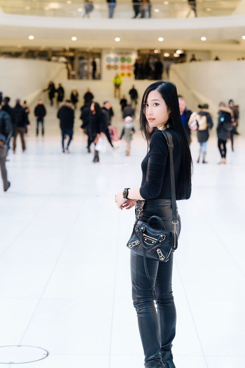 of leather and lace JORD Wood watches at Oculus NYC