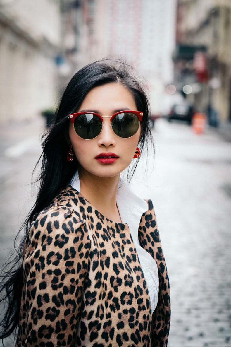 ZARA Leopard Coat | Off The Shoulder Shirts for Spring | Of Leather and Lace - A Fashion Blog by Tina Lee