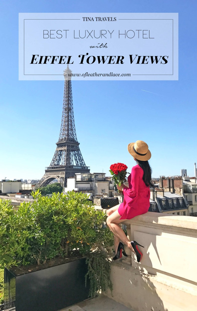 Tina Travels: Best Luxury Hotel with Views of The Eiffel Tower - Shangrila Paris | Of Leather and Lace
