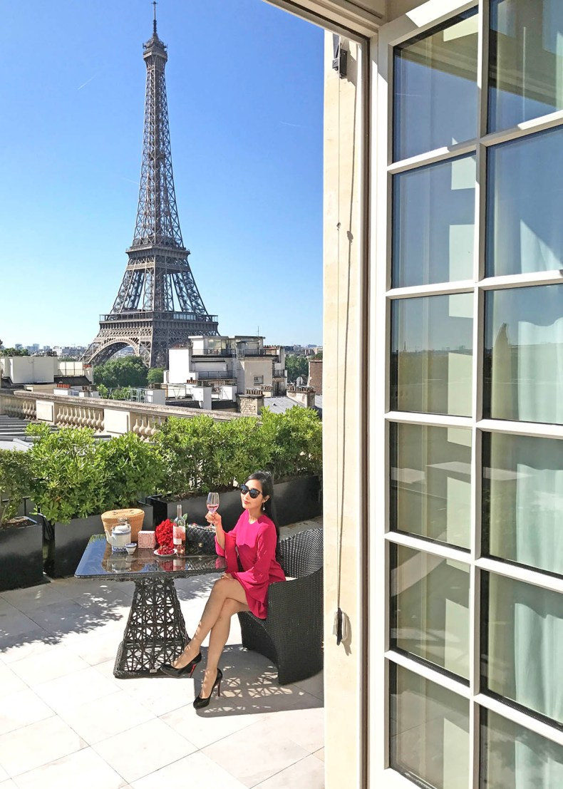 Tina Travels: Best Luxury Hotel with Views of The Eiffel Tower - Shangri-La Paris | Of Leather and Lace