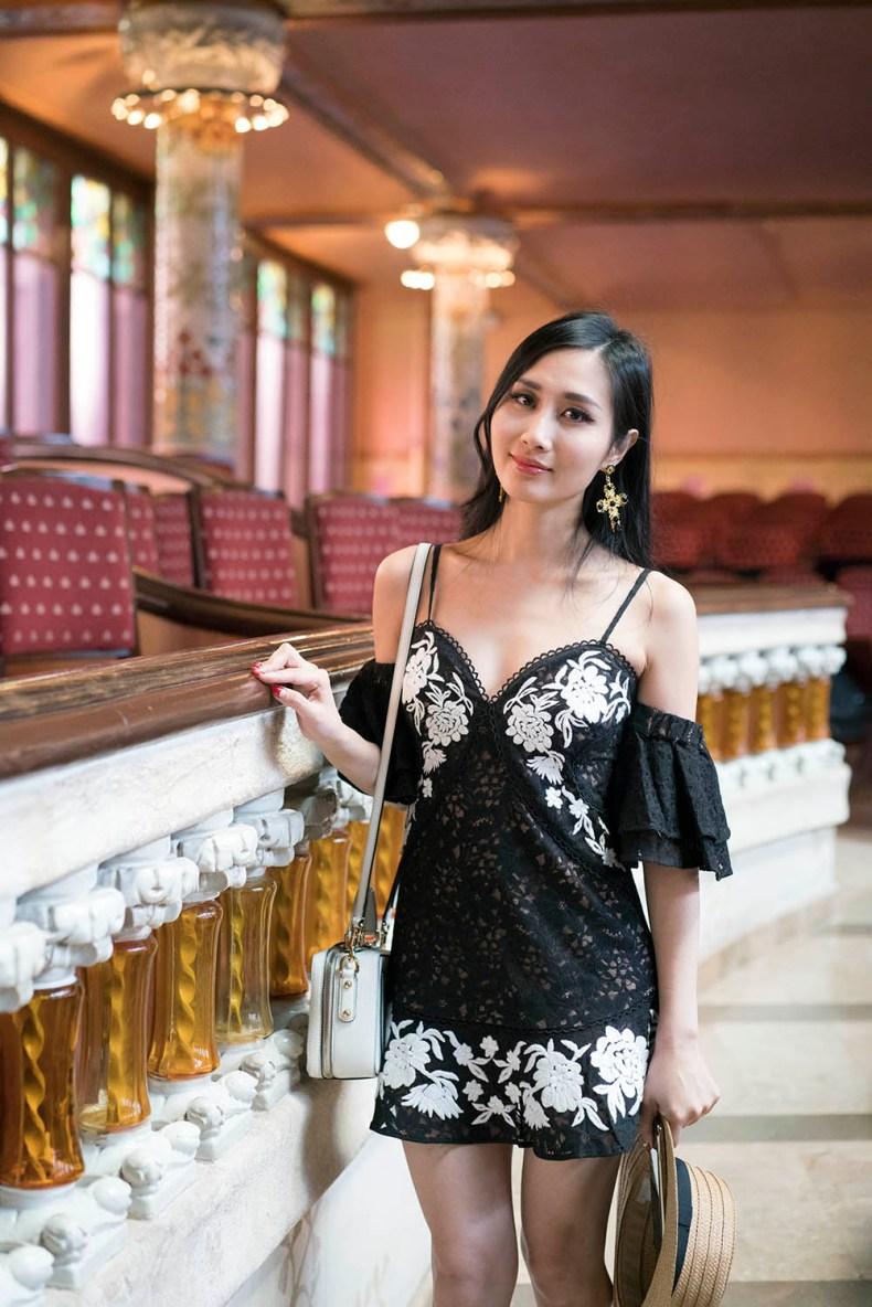 For Love and Lemons Matador Tank Dress | Palau de la Musica Catalana | Of Leather and Lace