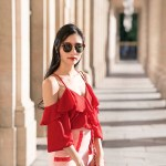 How to Style Red and Pink Outfits – Palais Royal, Paris, France