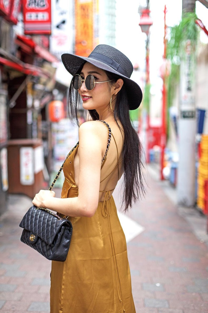 How to Style a Slip Dress for Fall | Mustard For Love and Lemons Slip Dress | Of Leather and Lace