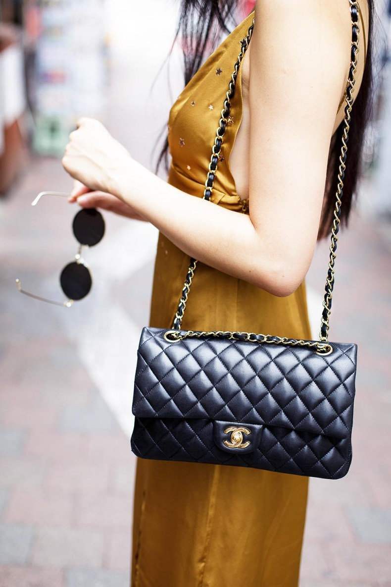 How to Style a Slip Dress for Fall | Chanel 2.55 Classic Flap Bag | Of Leather and Lace
