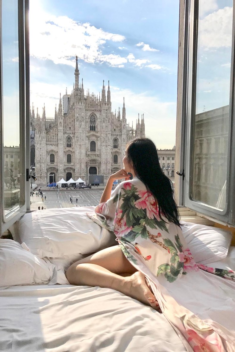 Best Hotel Room View in Milan, Italy | Of Leather and Lace - Fashion Blog by Tina Lee