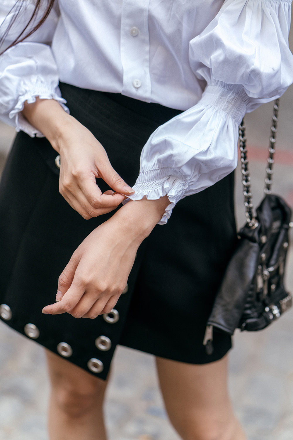 Embracing 80s Fashion Trends: Puffy Sleeves | Of Leather and Lace - A Fashion Blog by Tina Lee