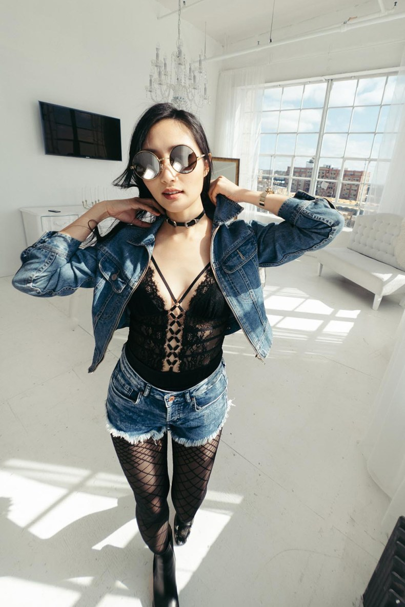How to Wear a Lace Bodysuit Out | Thistle and Spire Constellation Bodysuit | Of Leather and Lace