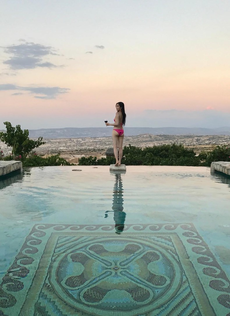 Tina Travels: Where To Stay in Cappadocia, Turkey - Museum Hotel Pool | Of Leather and Lace