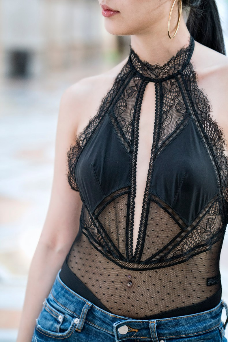 Thistle and Spire Lace Bodysuit | Of Leather and Lace - A Fashion & Travel Blog by Tina Lee