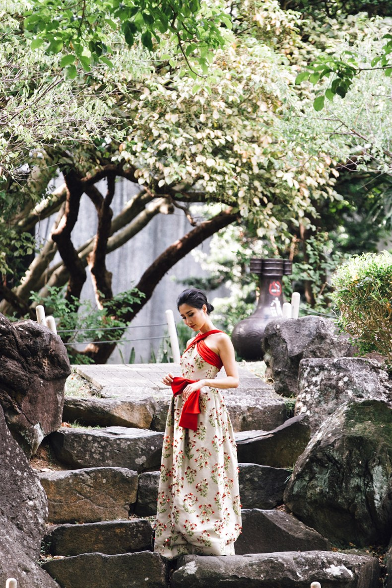 Brand Crush: Vernalmania - Couture Gowns With A Story   Of Leather and Lace - Fashion Blog by Tina Lee   asian inspired fashion, taipei national palace museum, green gown, oriental fashion, embellished gown