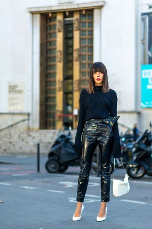 How to Wear the Vinyl Trend | Ofleatherandlace.com | Fashion blogger, style trends, fashion trends, outfit ideas, womens outfit ideas, vinyl pant outfit, vinyl pants, fall outfits