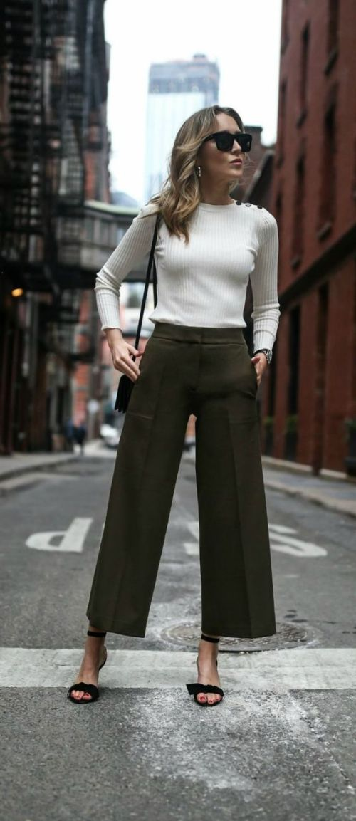 My Top Tips On How To Style Wide Leg Pants Of Leather