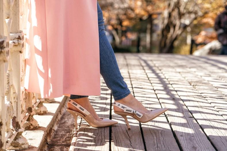Dior Nude Slingback Heels | in NYC | Ofleatherandlace.com