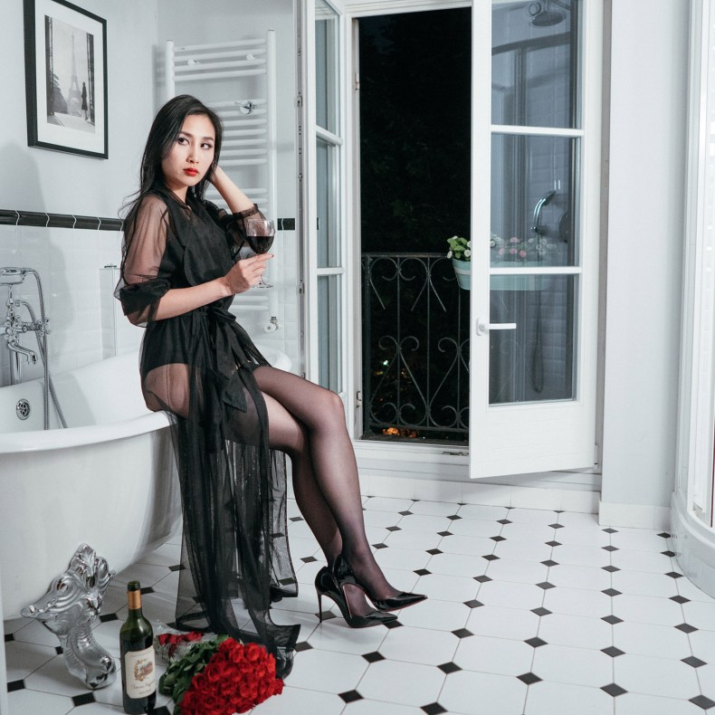 Embrace Your Feminine Side and Sensuality - Sexy Lingerie Look | in Paris | Ofleatherandlace.com